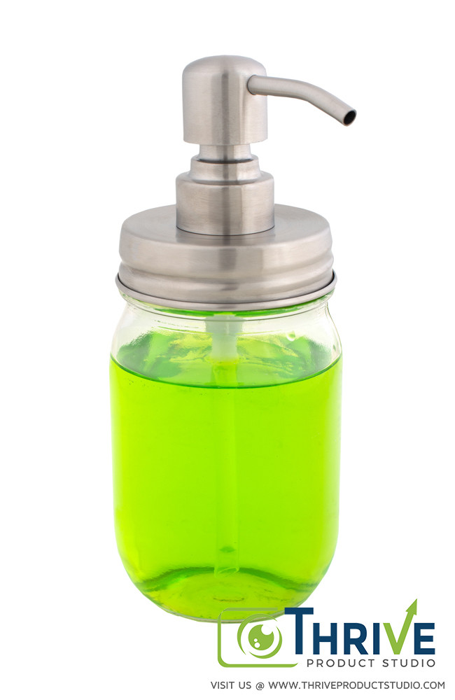 Soap dispenser, Thrive Product Studio's Example of Amazon Product Photography