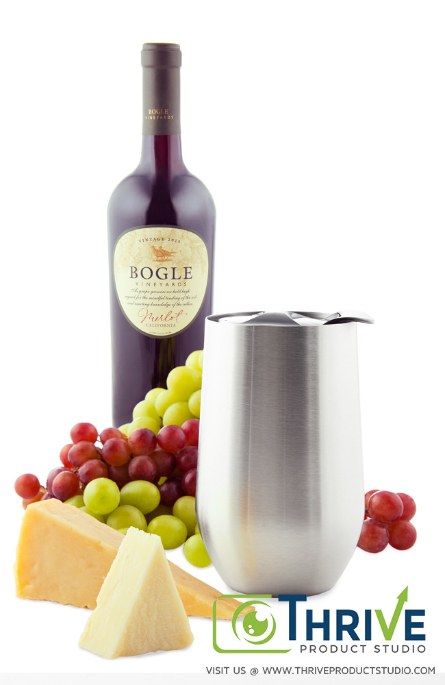 Wine grapes and cheese still life, Thrive Product Studio's Example of Amazon Product Photography